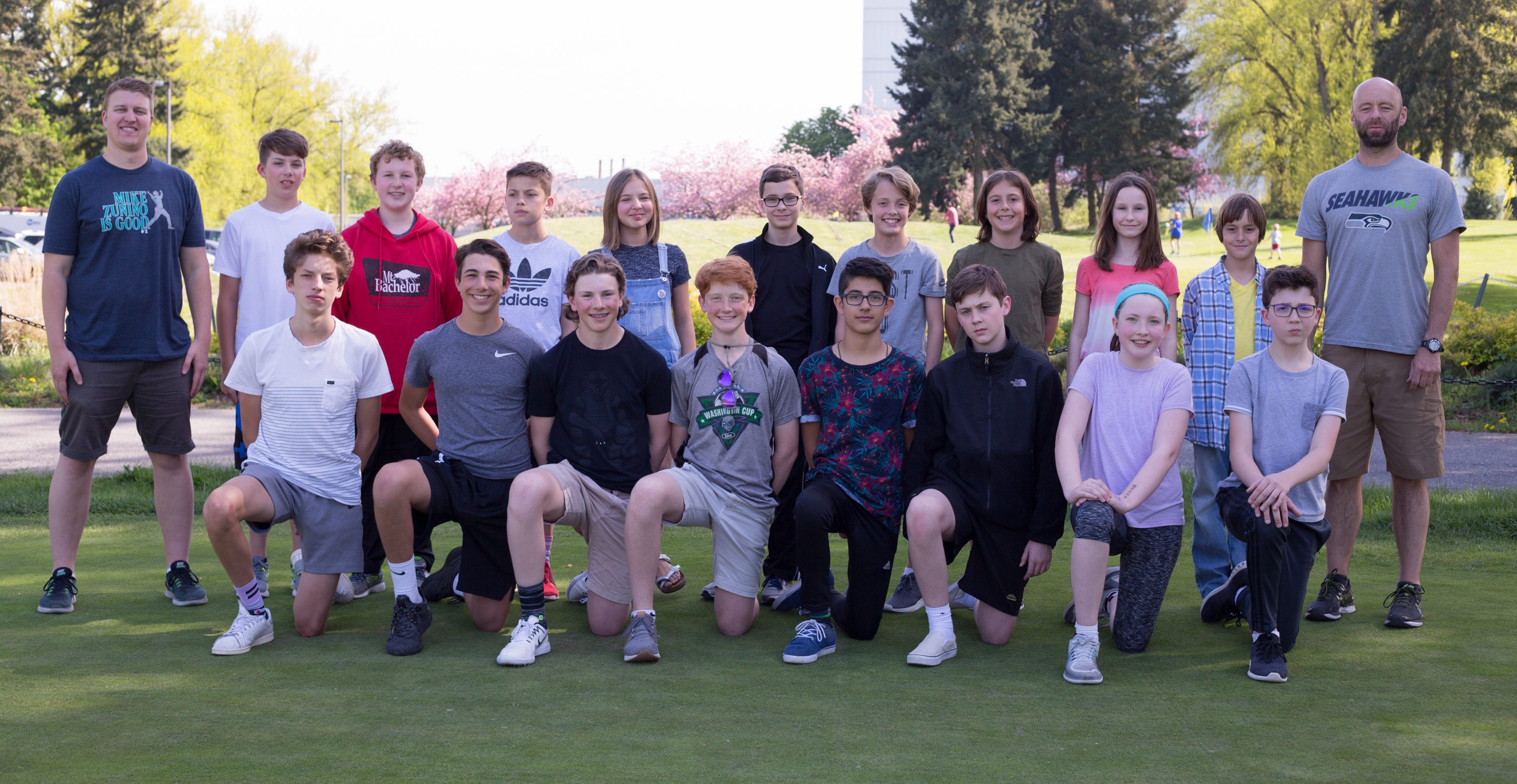 Seattle Academy Golf Middle School Coed Team Photo